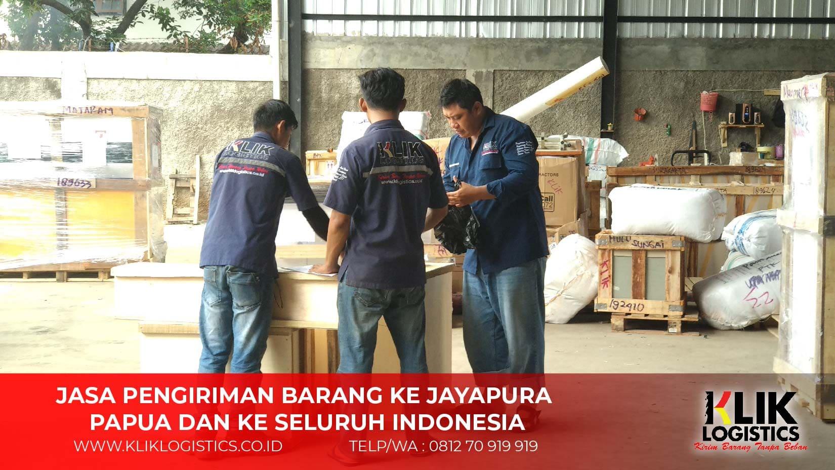 Jasa Pengiriman Barang ke Jayapura Papua - Klik Logistics